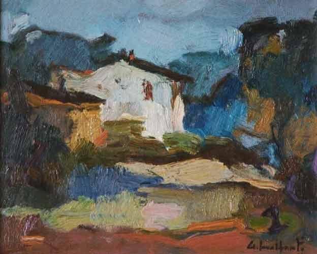 Giacomo malfanti il pittore del po paesaggi e vedute for Immagini di case di montagna